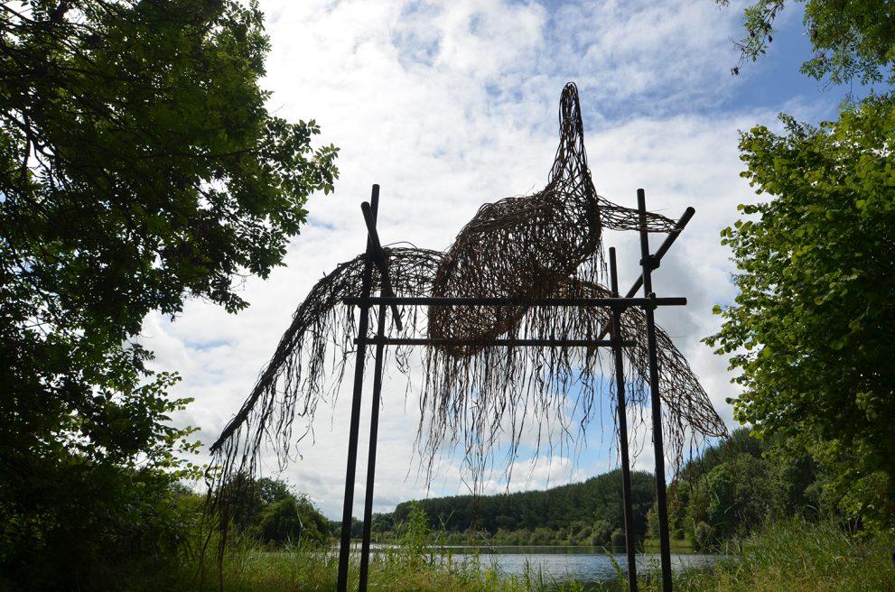 Tired environmental sculpture